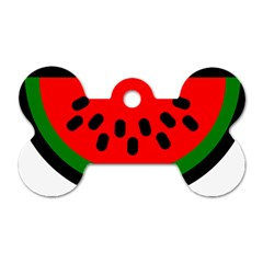 Watermelon Melon Seeds Produce Dog Tag Bone (Two Sides)