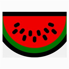 Watermelon Melon Seeds Produce Large Glasses Cloth (2-Side)