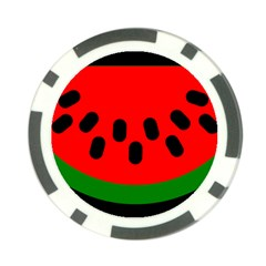Watermelon Melon Seeds Produce Poker Chip Card Guards