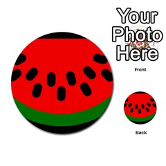 Watermelon Melon Seeds Produce Multi-purpose Cards (Round)