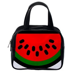 Watermelon Melon Seeds Produce Classic Handbags (One Side)