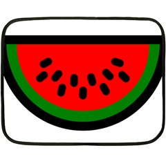 Watermelon Melon Seeds Produce Double Sided Fleece Blanket (Mini)