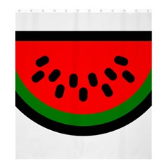 Watermelon Melon Seeds Produce Shower Curtain 66  x 72  (Large)