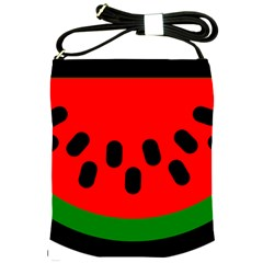 Watermelon Melon Seeds Produce Shoulder Sling Bags