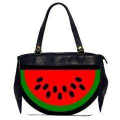 Watermelon Melon Seeds Produce Office Handbags (2 Sides)