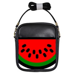 Watermelon Melon Seeds Produce Girls Sling Bags
