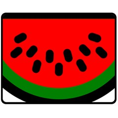 Watermelon Melon Seeds Produce Fleece Blanket (Medium)