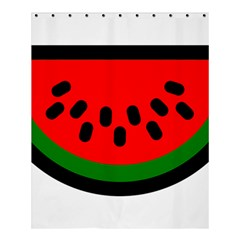 Watermelon Melon Seeds Produce Shower Curtain 60  x 72  (Medium)