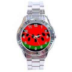 Watermelon Melon Seeds Produce Stainless Steel Analogue Watch
