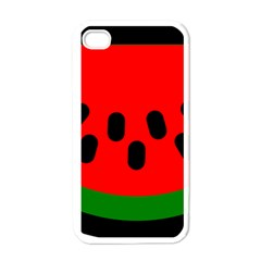 Watermelon Melon Seeds Produce Apple iPhone 4 Case (White)
