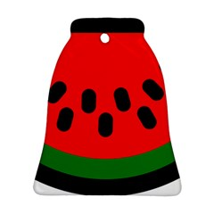 Watermelon Melon Seeds Produce Ornament (Bell)