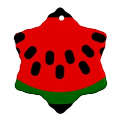 Watermelon Melon Seeds Produce Snowflake Ornament (2-Side)