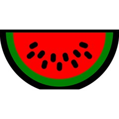 Watermelon Melon Seeds Produce YOU ARE INVITED 3D Greeting Card (8x4)