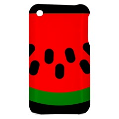 Watermelon Melon Seeds Produce Apple iPhone 3G/3GS Hardshell Case