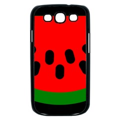Watermelon Melon Seeds Produce Samsung Galaxy S III Case (Black)