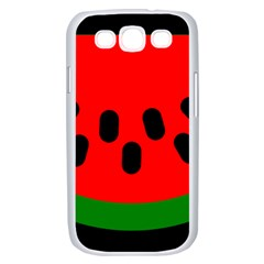 Watermelon Melon Seeds Produce Samsung Galaxy S III Case (White)