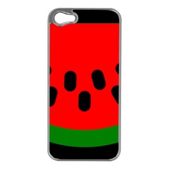 Watermelon Melon Seeds Produce Apple iPhone 5 Case (Silver)