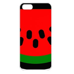 Watermelon Melon Seeds Produce Apple iPhone 5 Seamless Case (White)