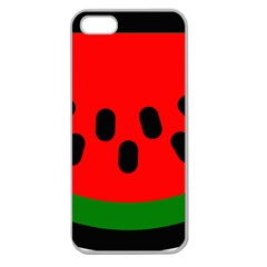 Watermelon Melon Seeds Produce Apple Seamless iPhone 5 Case (Clear)