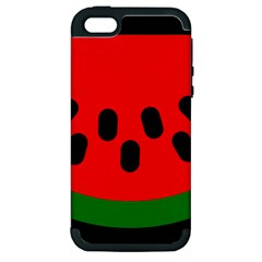 Watermelon Melon Seeds Produce Apple iPhone 5 Hardshell Case (PC+Silicone)