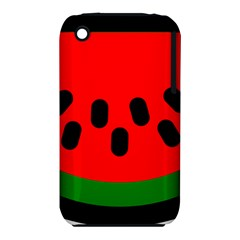 Watermelon Melon Seeds Produce Apple iPhone 3G/3GS Hardshell Case (PC+Silicone)