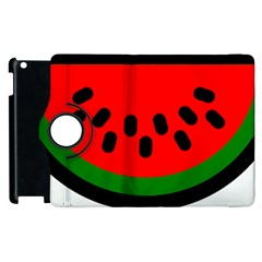 Watermelon Melon Seeds Produce Apple iPad 2 Flip 360 Case