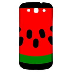 Watermelon Melon Seeds Produce Samsung Galaxy S3 S III Classic Hardshell Back Case