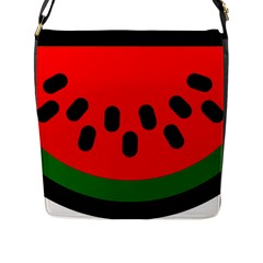 Watermelon Melon Seeds Produce Flap Messenger Bag (L)