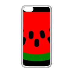 Watermelon Melon Seeds Produce Apple iPhone 5C Seamless Case (White)
