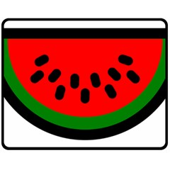 Watermelon Melon Seeds Produce Double Sided Fleece Blanket (Medium)