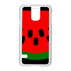Watermelon Melon Seeds Produce Samsung Galaxy S5 Case (White)