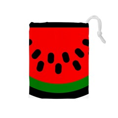 Watermelon Melon Seeds Produce Drawstring Pouches (Medium)