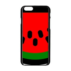 Watermelon Melon Seeds Produce Apple iPhone 6/6S Black Enamel Case
