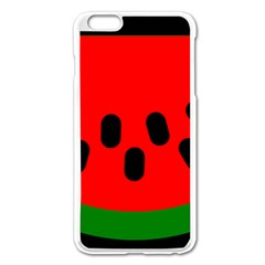 Watermelon Melon Seeds Produce Apple iPhone 6 Plus/6S Plus Enamel White Case