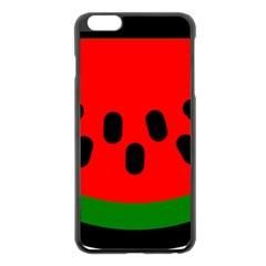 Watermelon Melon Seeds Produce Apple iPhone 6 Plus/6S Plus Black Enamel Case