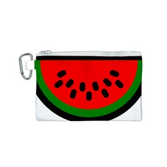 Watermelon Melon Seeds Produce Canvas Cosmetic Bag (S)