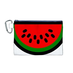 Watermelon Melon Seeds Produce Canvas Cosmetic Bag (M)