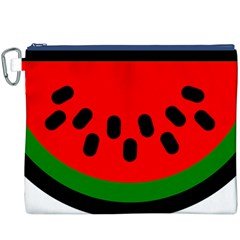 Watermelon Melon Seeds Produce Canvas Cosmetic Bag (XXXL)