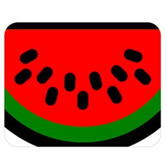 Watermelon Melon Seeds Produce Double Sided Flano Blanket (Medium)