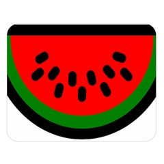 Watermelon Melon Seeds Produce Double Sided Flano Blanket (Large)