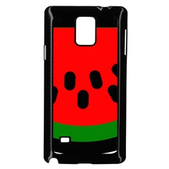 Watermelon Melon Seeds Produce Samsung Galaxy Note 4 Case (Black)
