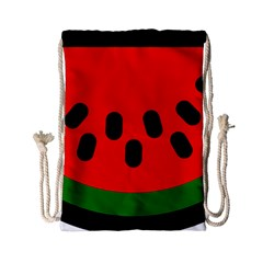 Watermelon Melon Seeds Produce Drawstring Bag (Small)