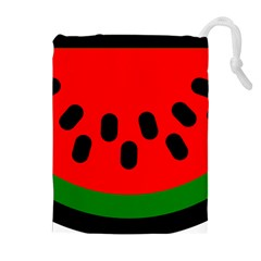 Watermelon Melon Seeds Produce Drawstring Pouches (Extra Large)