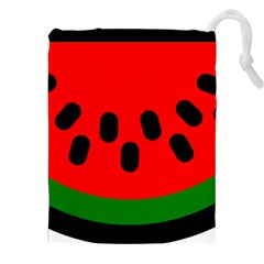 Watermelon Melon Seeds Produce Drawstring Pouches (XXL)