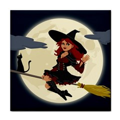 Witch Witchcraft Broomstick Broom Tile Coasters