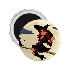 Witch Witchcraft Broomstick Broom 2.25  Magnets