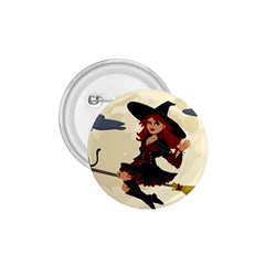 Witch Witchcraft Broomstick Broom 1.75  Buttons