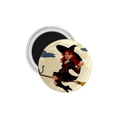 Witch Witchcraft Broomstick Broom 1.75  Magnets