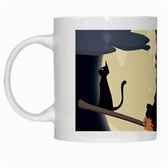 Witch Witchcraft Broomstick Broom White Mugs