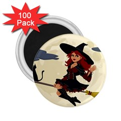 Witch Witchcraft Broomstick Broom 2.25  Magnets (100 pack)